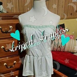 Mint green strapless top 💚❣